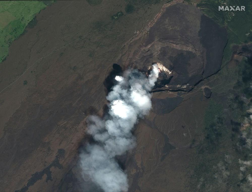 Kilauea Yanardağı'nda patlamaları: Krater gölü buharlaştı - 5