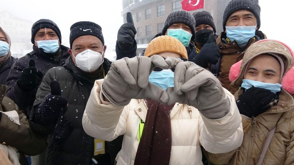 Uludağ'da kar yağışı tatilcileri sevindirdi - 4