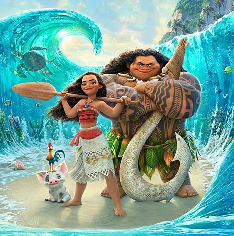 Moana filminin karakterleri Moana ve Maui