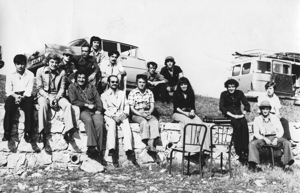 Çılgınlar, 1976. Türkan Şoray, Ekrem Bora. Çekim sonrası Kilyos dönüşü.