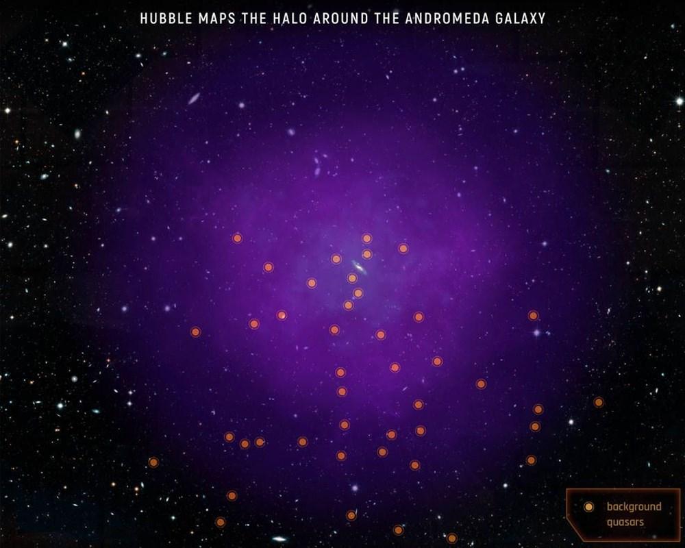 NASA, Andromeda galaksisinin etrafındaki devasa haleyi ilk kez haritalandırdı - 8