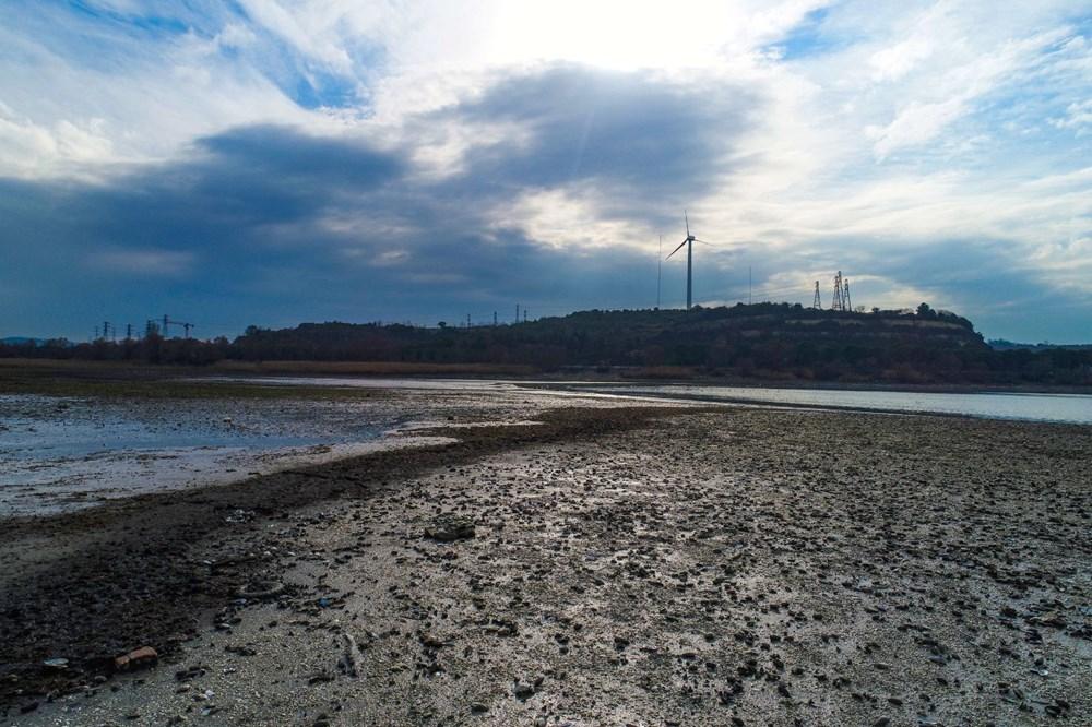 Terkos Gölü 100 metre çekildi, kirlilik ortaya çıktı - 14