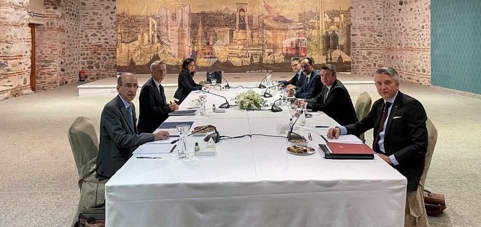 Türkiye ile Yunanistan arasında 61. tur istikşafi görüşmeler Cumhurbaşkanlığı Dolmabahçe Çalışma Ofisi'nde yapıldı.