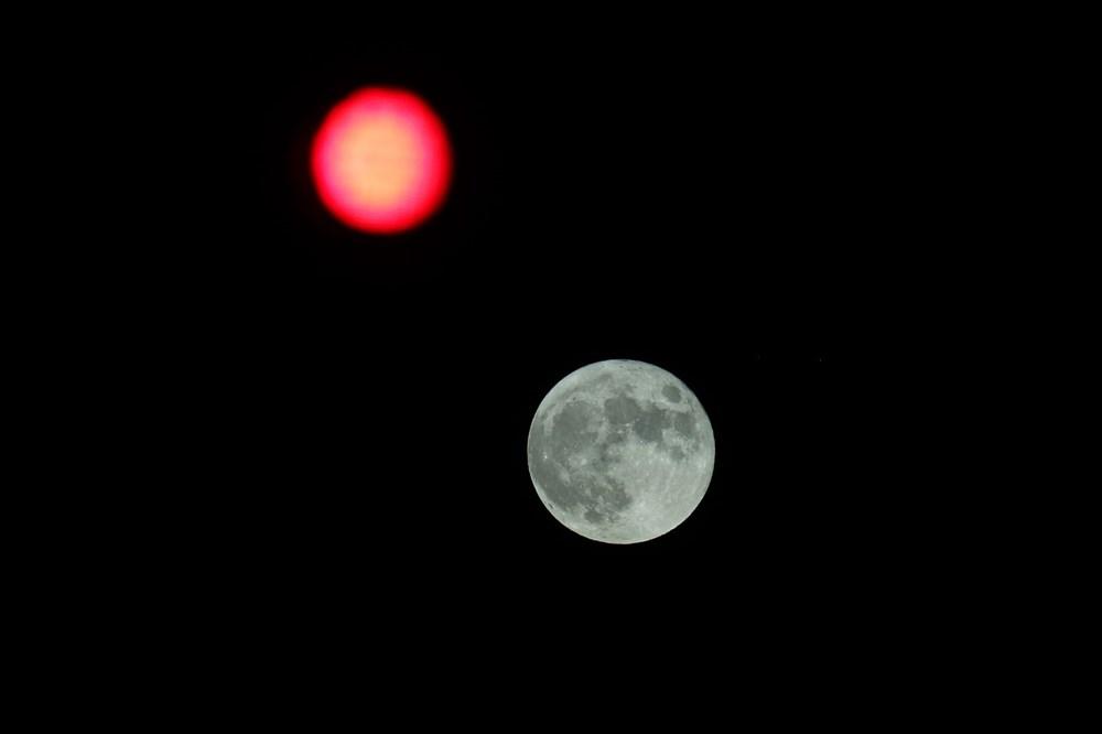 2021'in son Süper Ay'ı, Çilek Ay Tutulması gerçekleşti: Türkiye'den ve dünyadan manzaralar - 16