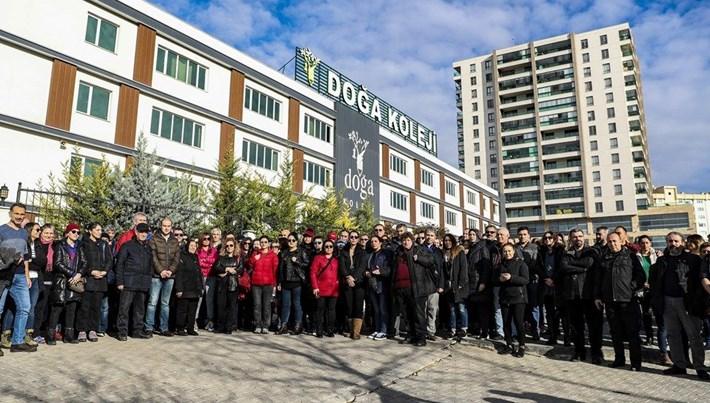 Velilerden Doğa Koleji protestosu: Eğitimin aynı okulda devam etmesini istiyorlar
