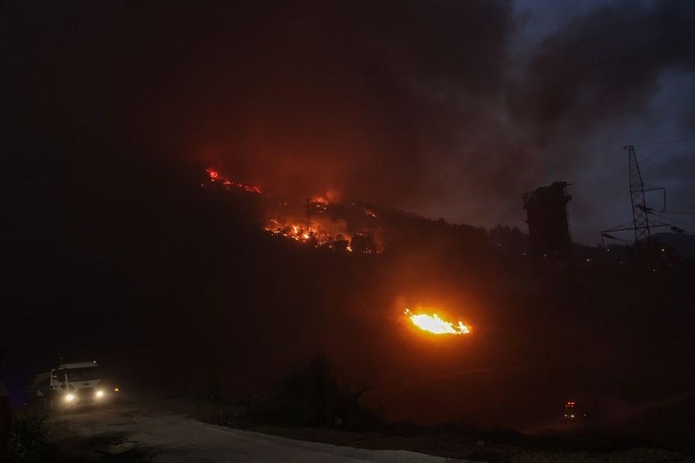 Milas'ta yangın bölgesindeki vatandaşlar tahliye ediliyor - 16
