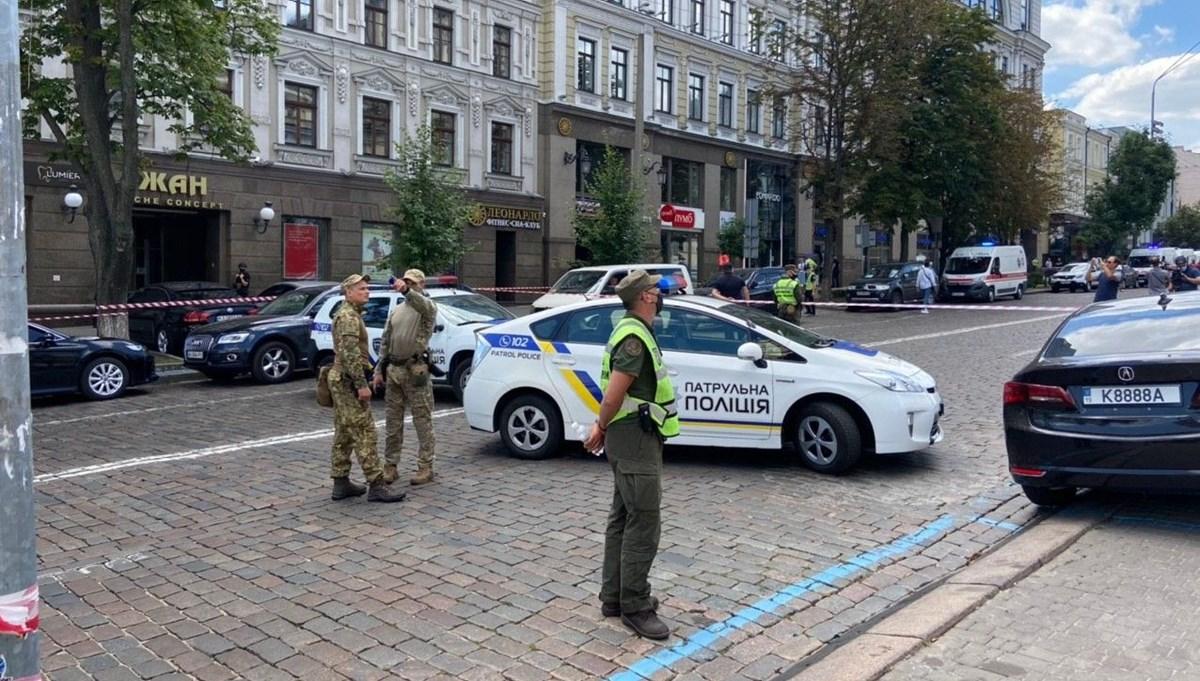Kiev'de bankada rehine krizi