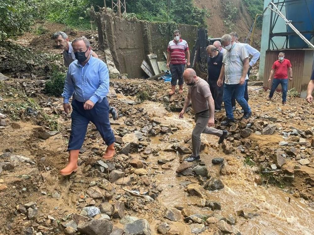 Rize ve Artvin'de beklenen yağış başladı: Arhavi'de iki mahalleyi su bastı - 10