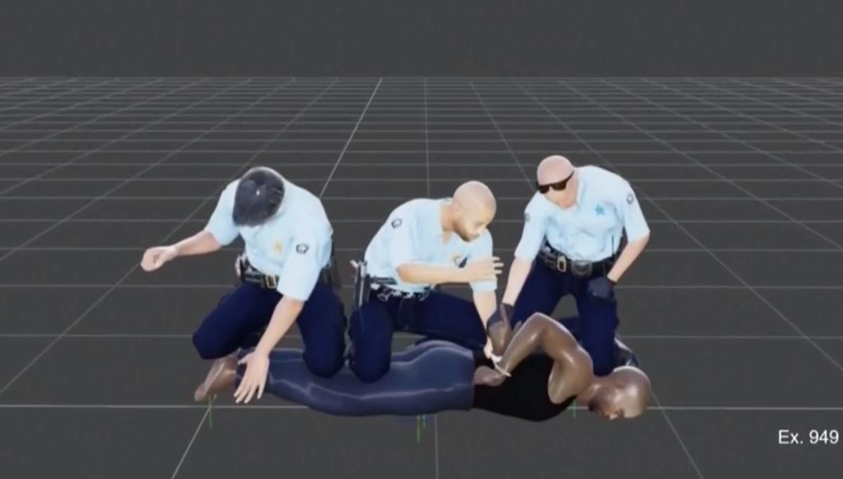 3D animation of George Floyd murder