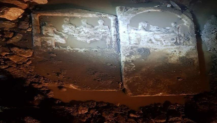 Şiddetli yağmur sonrası gün yüzüne çıkan antik steller müzeye taşındı