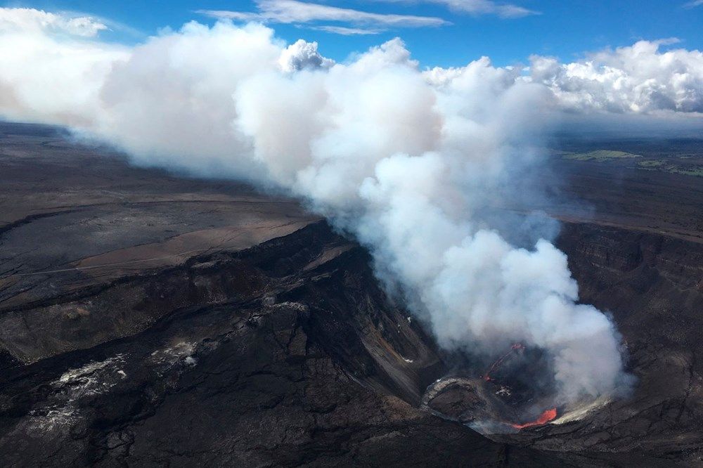 Kilauea Yanardağı'nda patlamaları: Krater gölü buharlaştı - 14