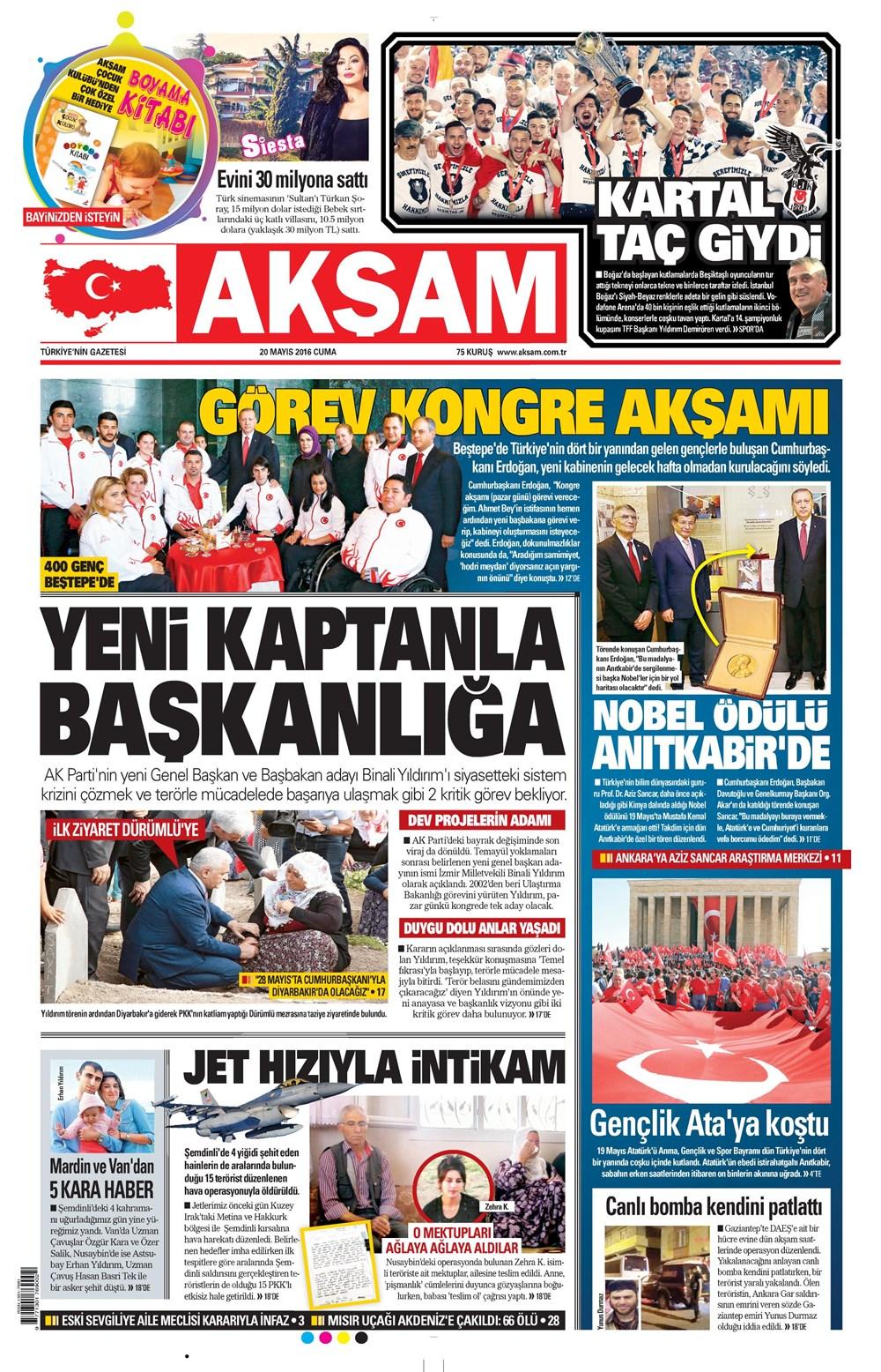 Gunun Gazete Mansetleri 20 Mayis 2016 Ntv
