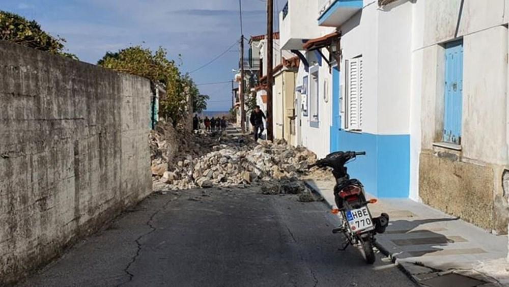 Depremin merkez üssü Yunan adası Sisam'dan ilk fotoğraflar - 14