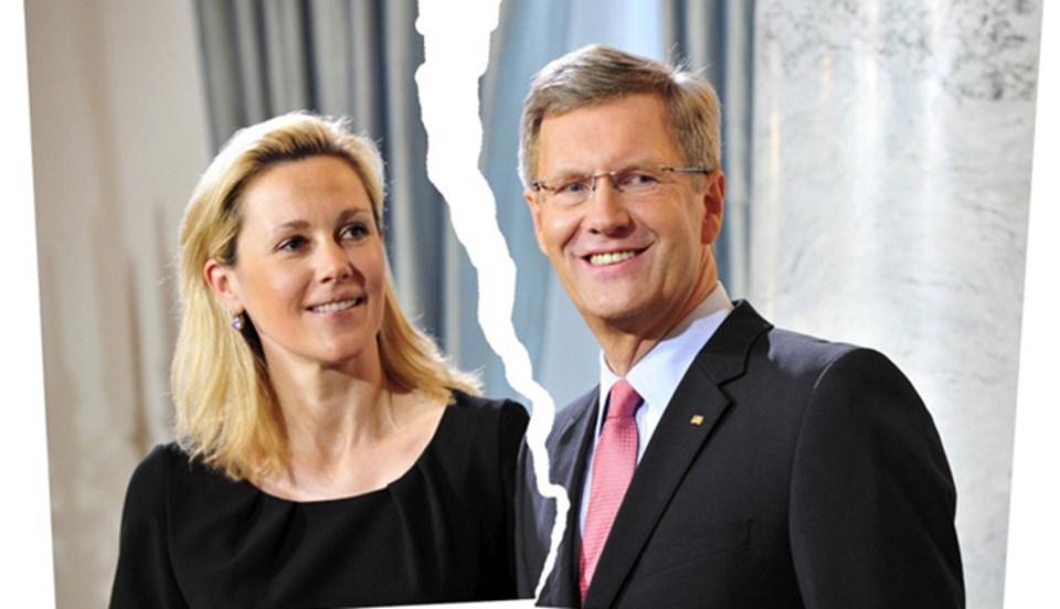 Alman Die Welt gazetesi, Christian-Bettina Wulff çiftinin ayrılık kararını bu fotoğrafla verdi.