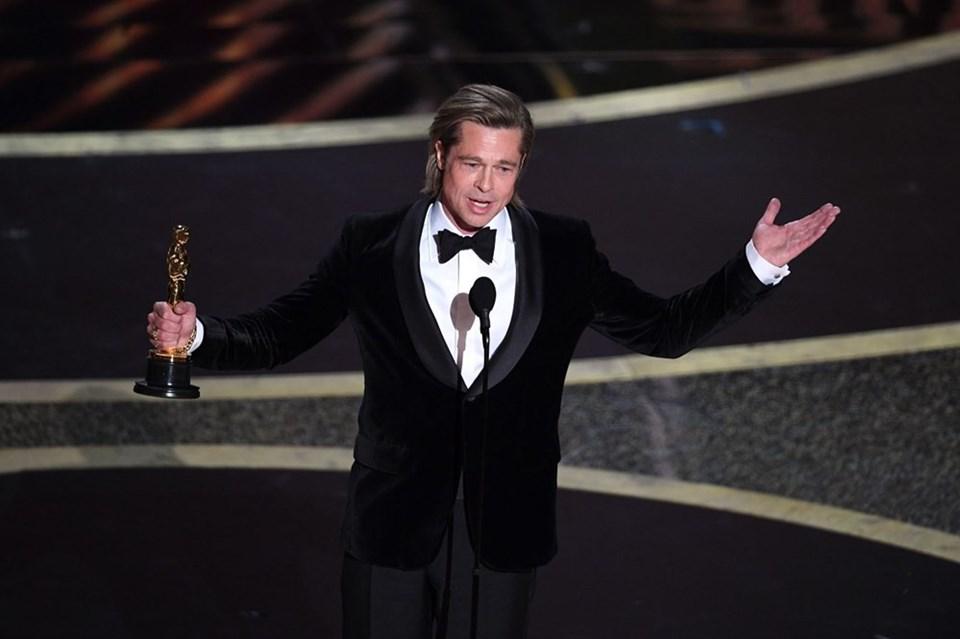 Once Upon a Time in Hollywood filmi, Brad Pitt'e ilk oyunculuk Oscar'ını kazandırdı.