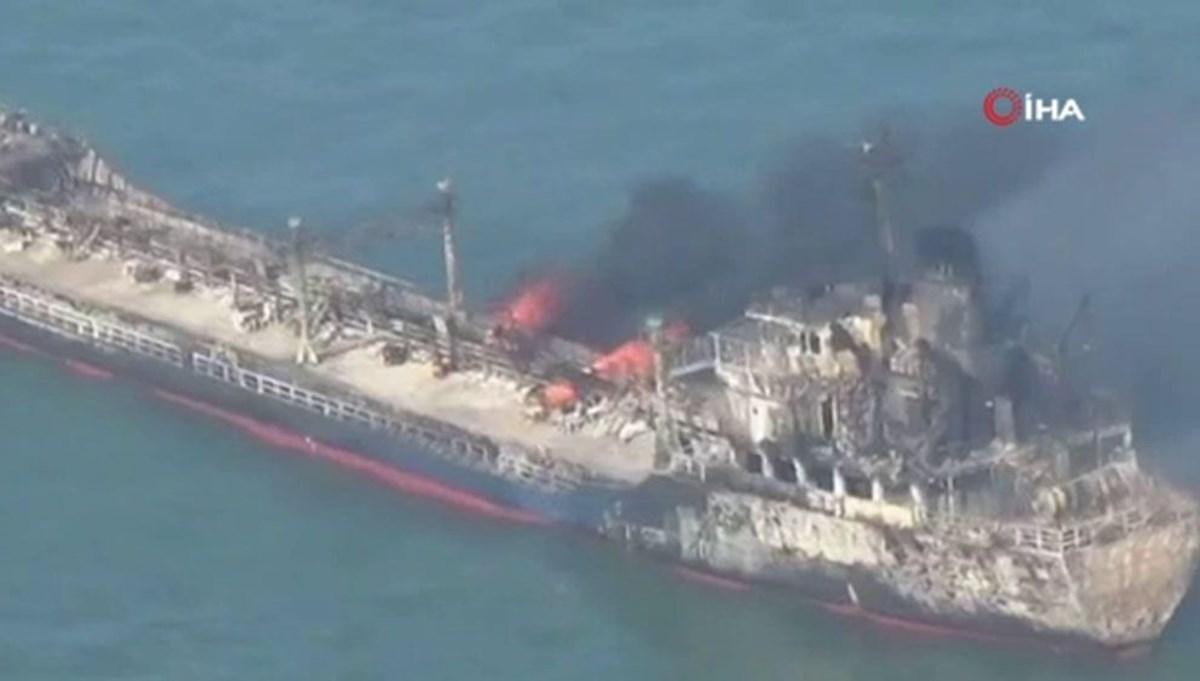 Çin'de petrol tankeri ile yük gemisi çarpıştı: 14 kişi kayıp