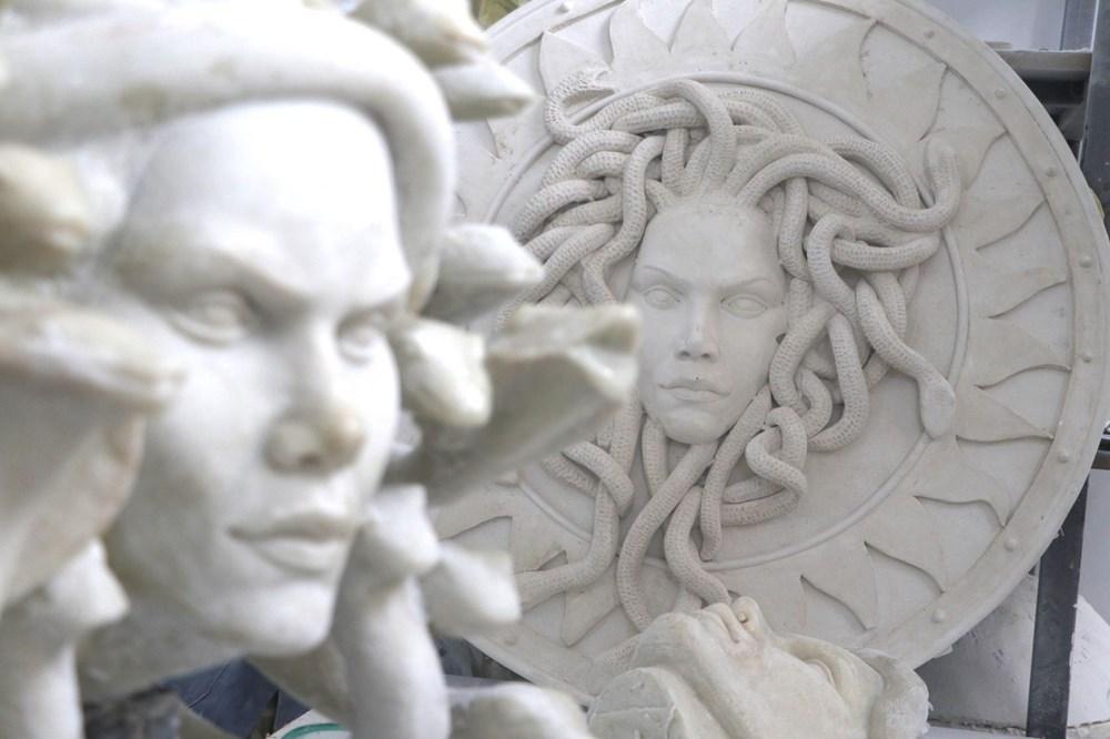 Güney Kore'deki dev akvaryumun heykelleri Çanakkale'den - 4