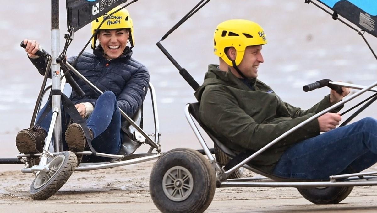 Prens William ve Düşes Kate'in yelkenli neşesi