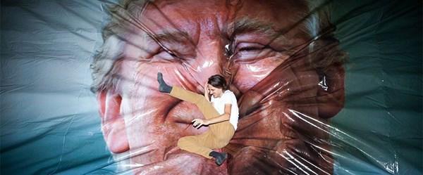 Belfast'ta 'Jump Trump' (Trump'a Atla) sergisi