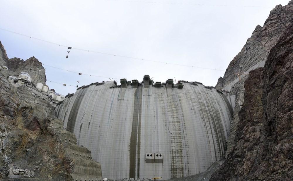 Yusufeli Barajı'nda dökülen 4 milyon metreküp betonla rekor kırıldı - 11