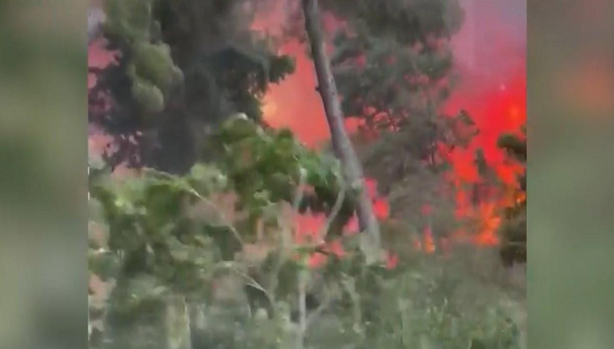 Mahalleli yangından böyle kaçtı
