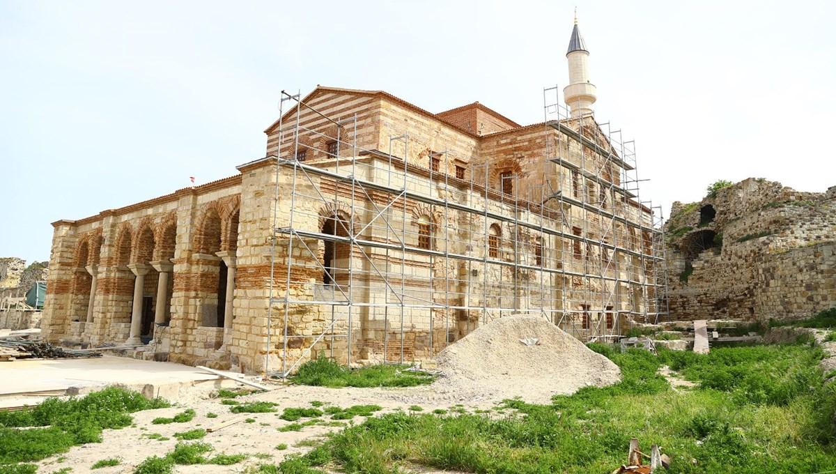 Edirne'deki tarihi Enez Fatih Camisi 56 yıl sonra ibadete açılıyor