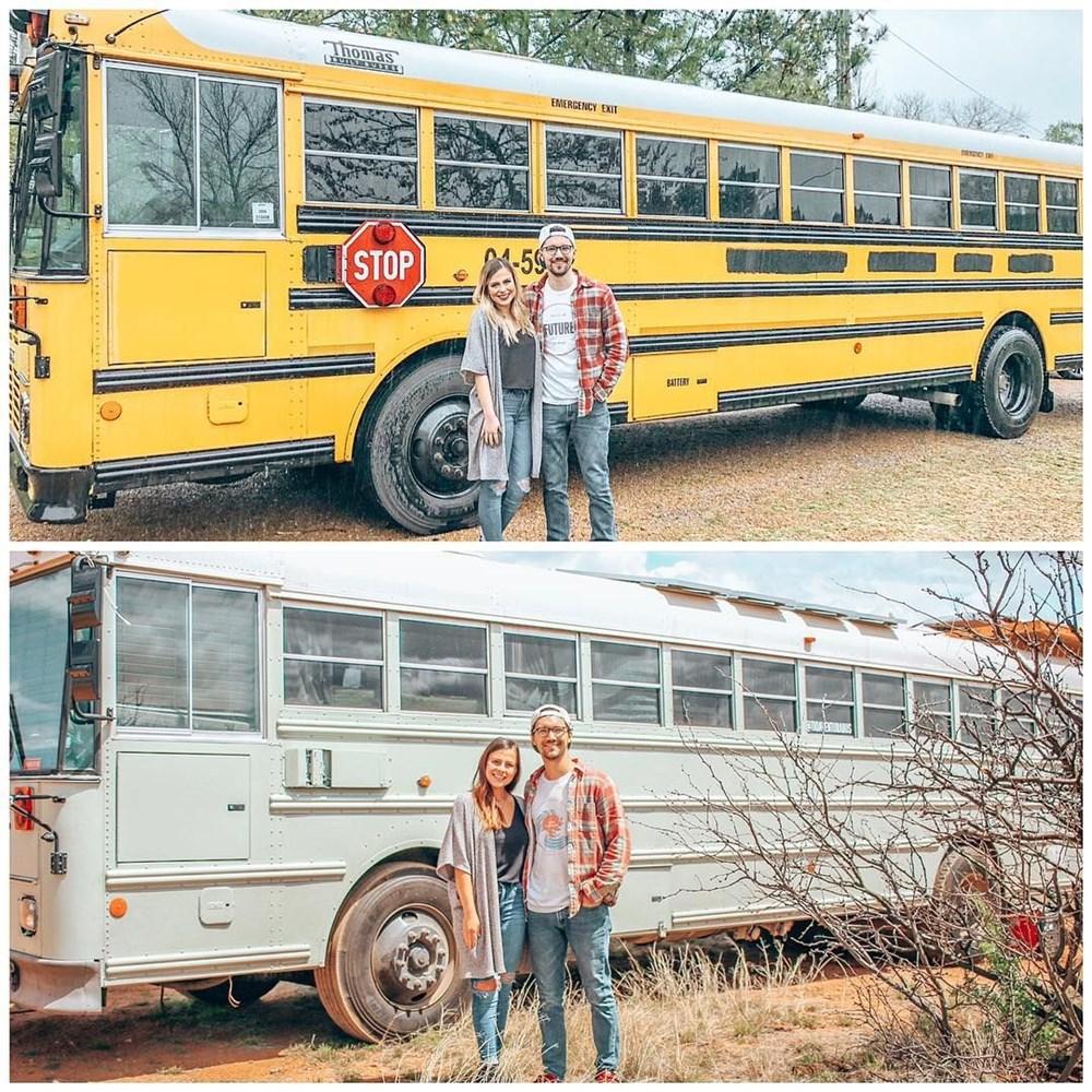 İşlerinden istifa edip karavana çevirdikleri okul servisiyle dünya turuna çıktılar - 1