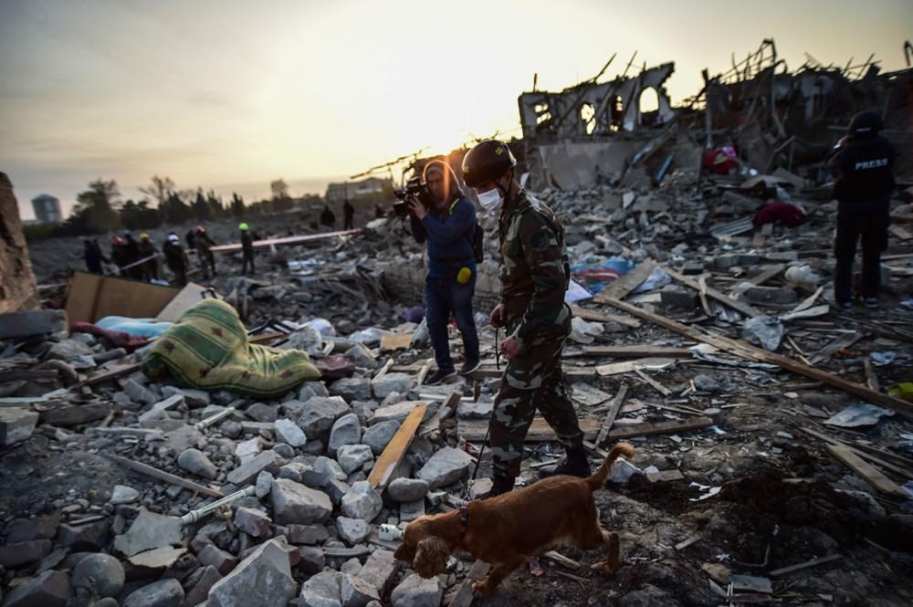 Ermenistan'ın Gence'ye füze saldırısının şiddeti gün ağarınca ortaya çıktı - 13