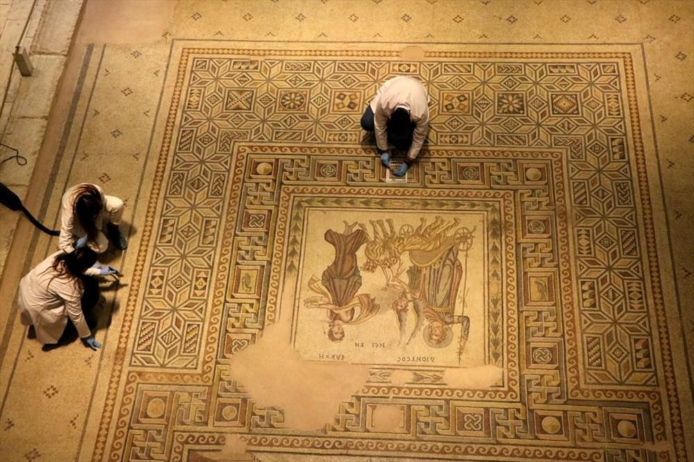 Zeugma Mozaik Müzesi'ndeki eserler, cerrah hassasiyetiyle temizlenerek geleceğe aktarılıyor - 12