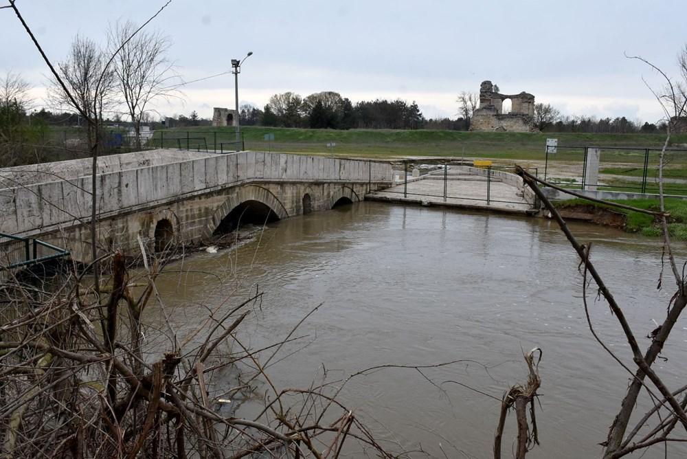 Tunca Nehri bir haftada 4 kat arttı: Sarı alarm verildi - 1