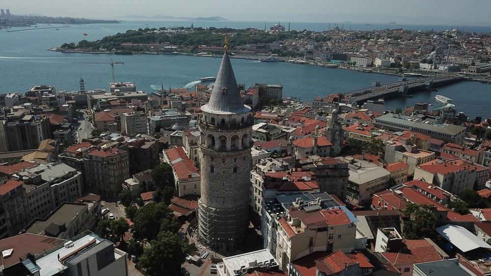 Galata Kulesi'nde restorasyon başladı - 4