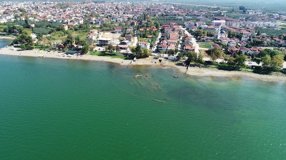 Sular çekilince 2 bin yıllık bazilikanın bir kısmı gün yüzüne çıktı - 2