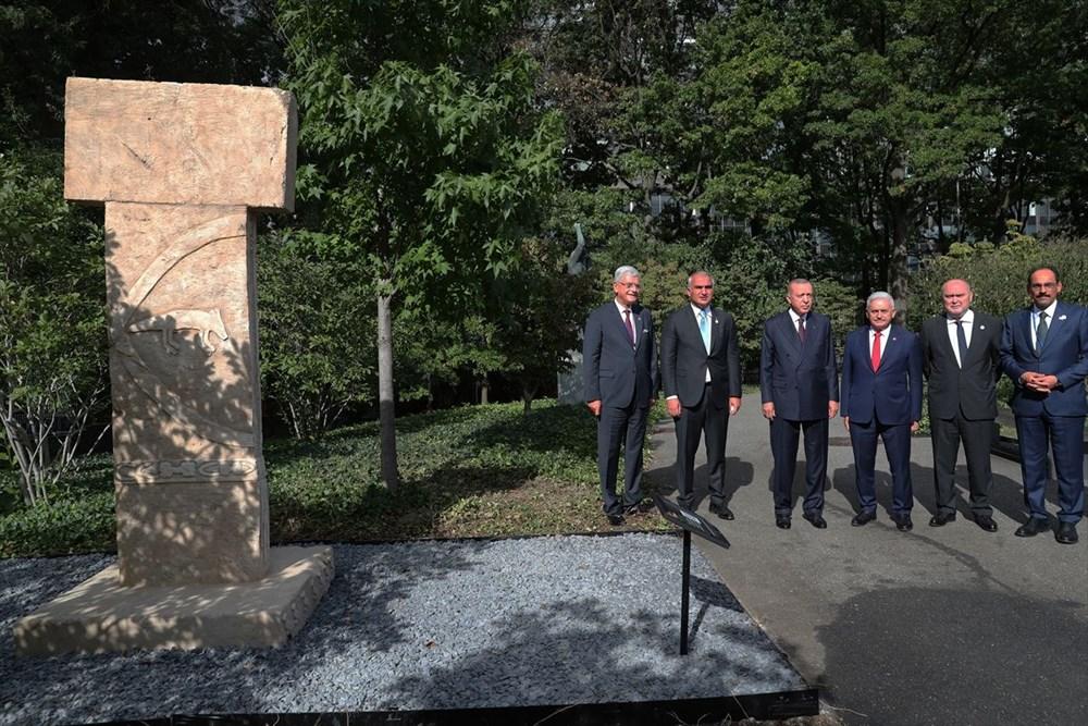 Göbeklitepe BM'de sergileniyor: Cumhurbaşkanı Erdoğan'dan paylaşım - 3