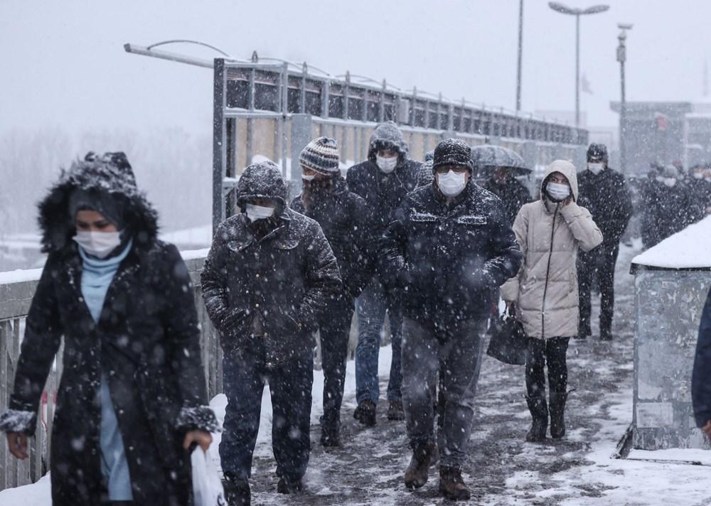 İstanbul'da kar yağışı yeniden etkisini artırdı - 16