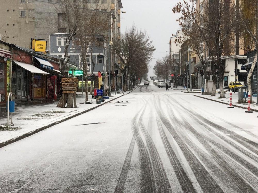 Kars merkeze mevsimin ilk karı düştü - 2