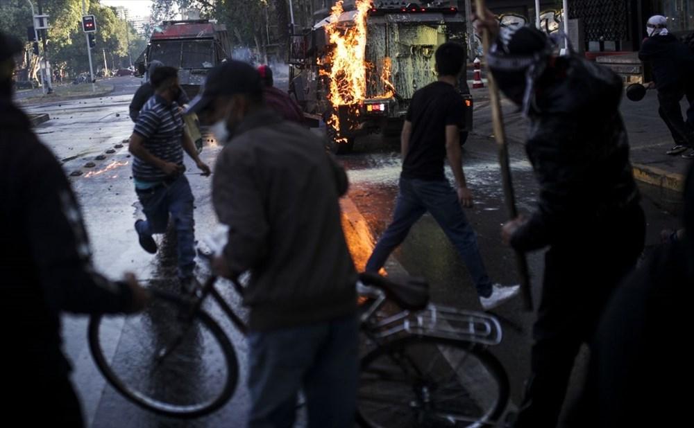 Şili'deki protestoların yıldönümü yaklaşırken sokaklarda tansiyon artıyor - 8