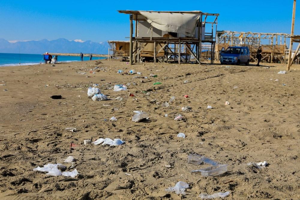 Lüks tatilin bedavaya sunulduğu 'Çardak Beach' çöplük oldu - 4