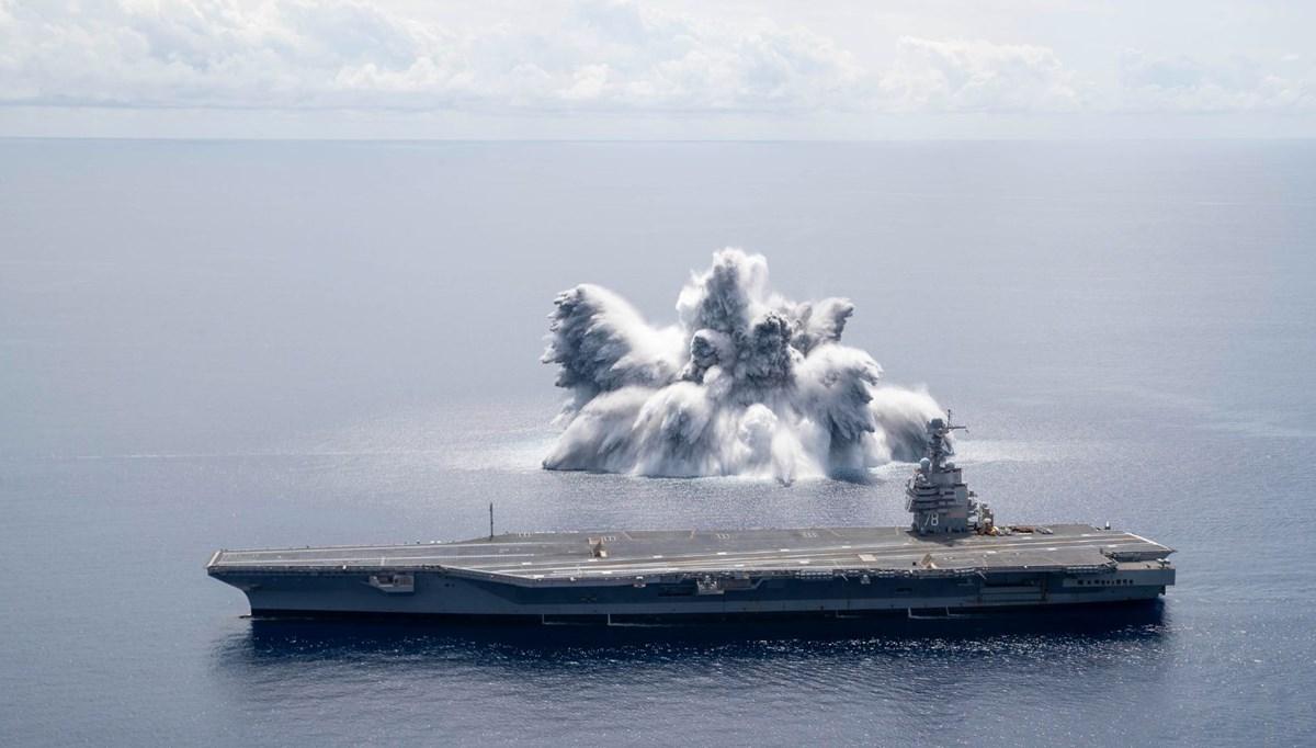 Savaş gemisinde patlayıcı testi: 3,9 büyüklüğünde deprem yarattı