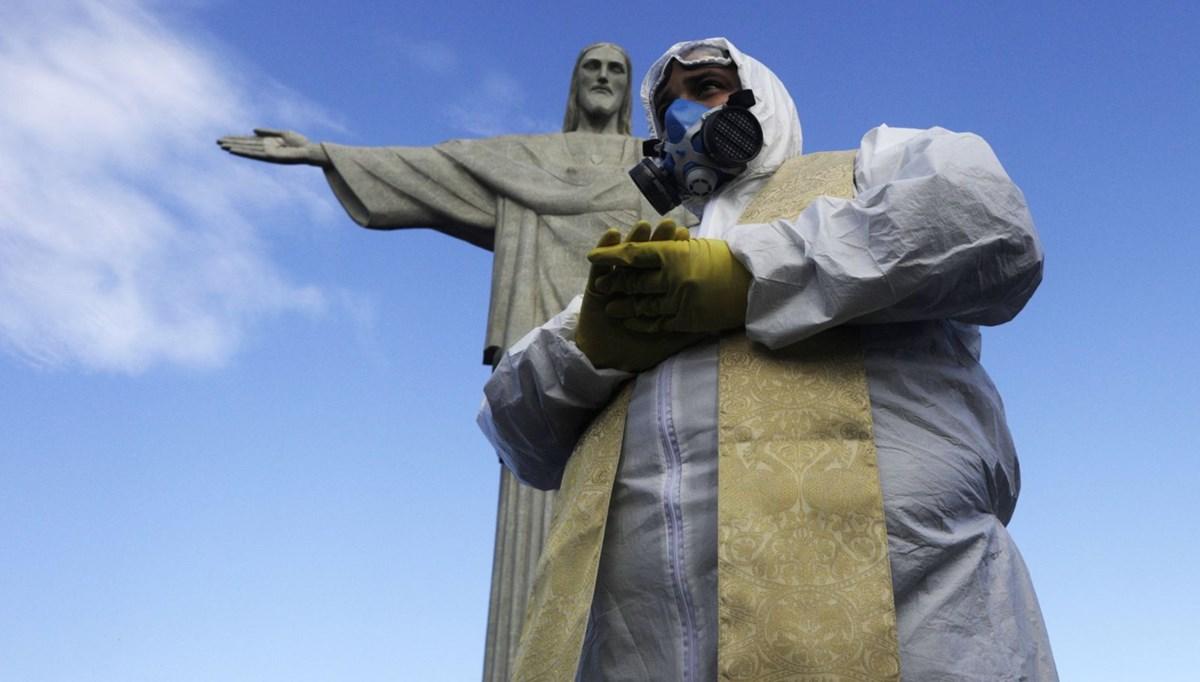Brezilya'daki Kurtarıcı İsa heykeli dezenfeksiyon çalışmalarının ardından yeniden açıldı