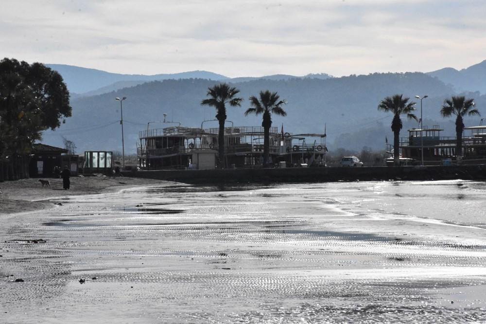 Muğla'da deniz 20 metre çekildi - 14