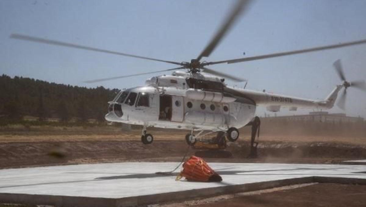 Orman yangınları için kiralanan helikopter Eskişehir'e konuşlandırıldı