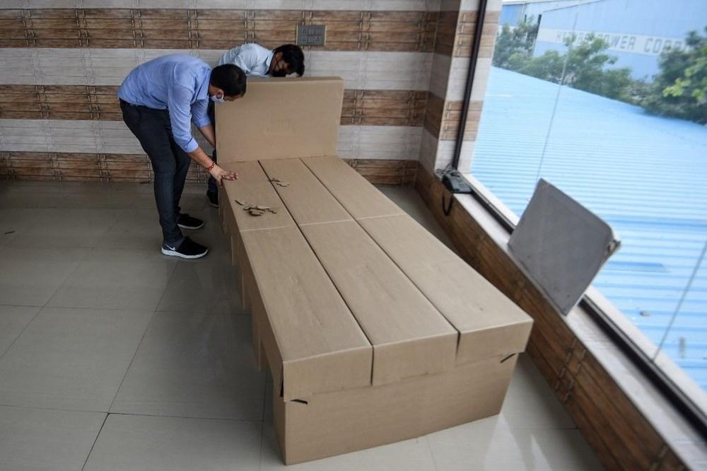 Hindistan'da Covid-19'a karşı karton yatak çözümü - 3