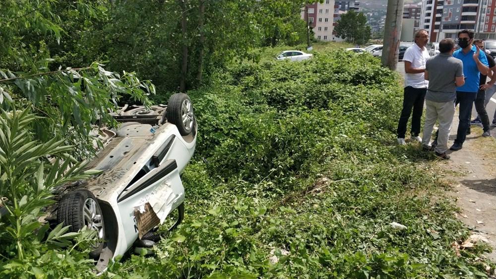 Ehliyet sınavında sürücü adayının kullandığı araç takla attı - 5
