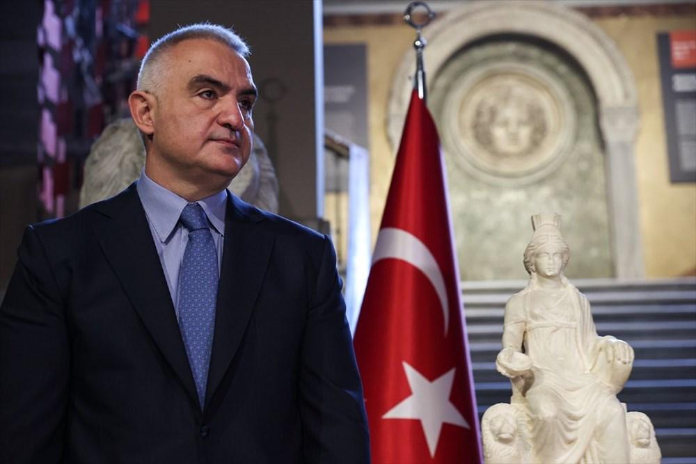 Kültür ve Turizm Bakanı Mehmet Nuri Ersoy Kybele heykelinin tanıtımını yaptı - 5