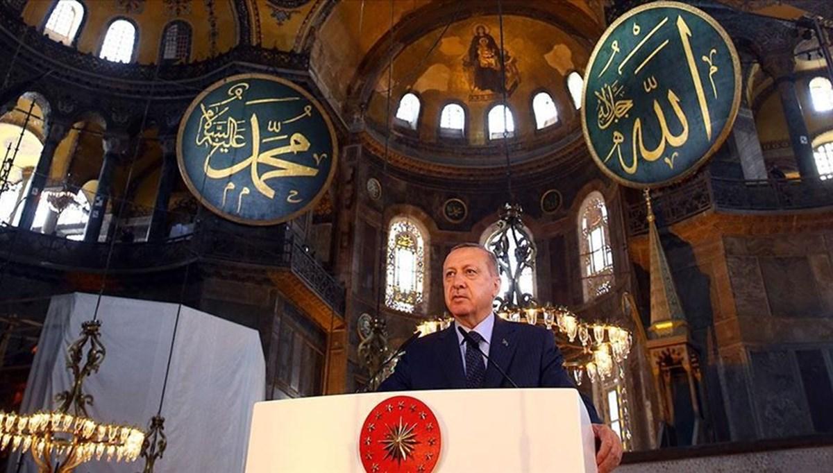 SON DAKİKA:Cumhurbaşkanı Erdoğan'dan Ayasofya paylaşımı