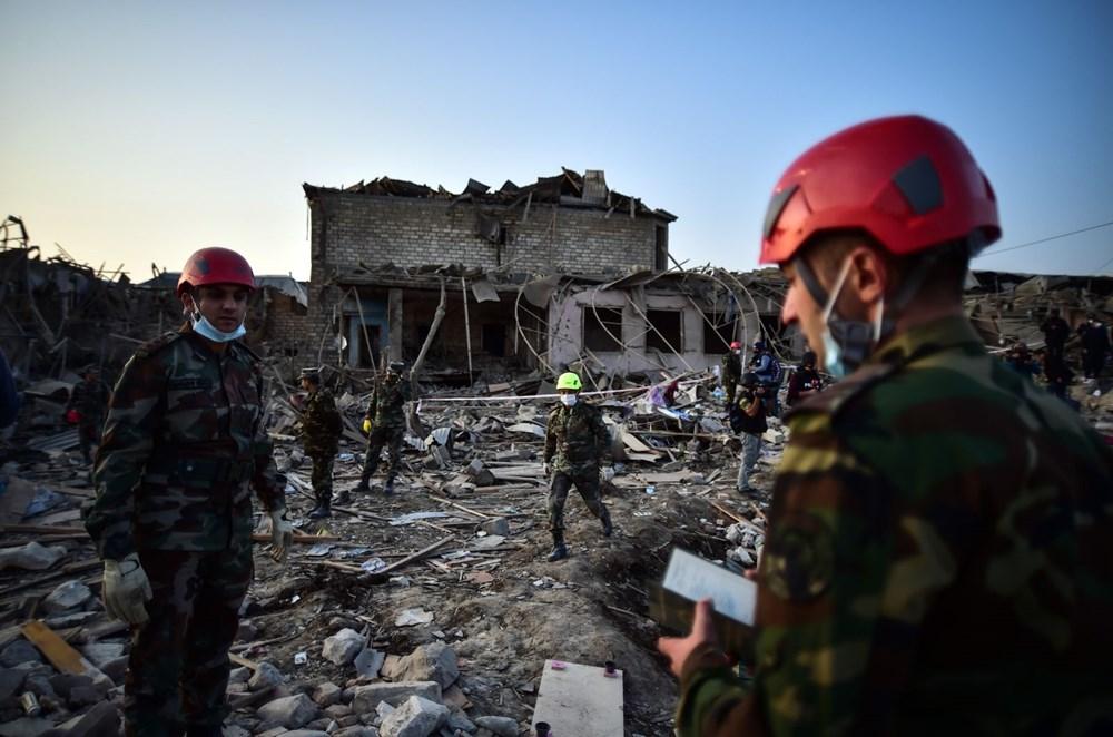 Ermenistan'ın Gence'ye füze saldırısının şiddeti gün ağarınca ortaya çıktı - 21