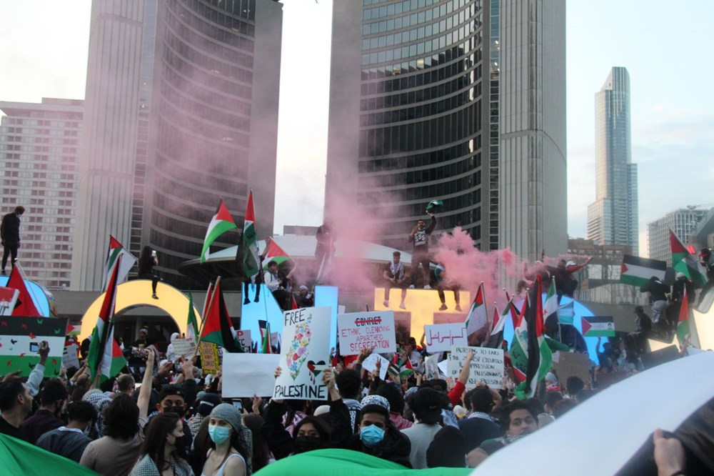 Israel's attacks on Palestinians were protested in Canada - 11