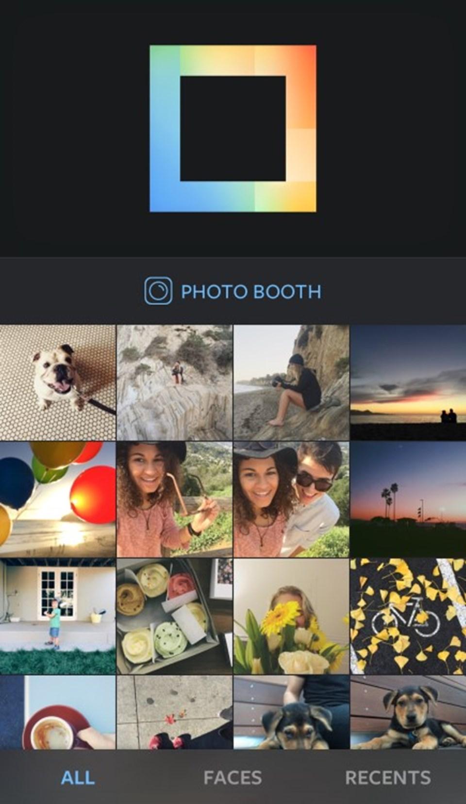 """Kullanıcılarının kolaj aralıklarını da kendilerine göre ayarlayabildiği uygulama """"Faces"""" kısmı ile yüzlerin ağır bastığı fotoğrafları klasörlüyor."""