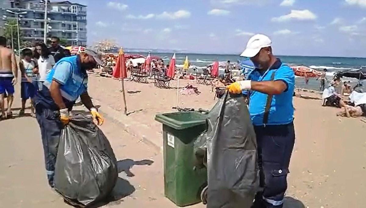 Bayram etkisi: Kumbağ'da belediye 4 günde 250 ton çöp topladı