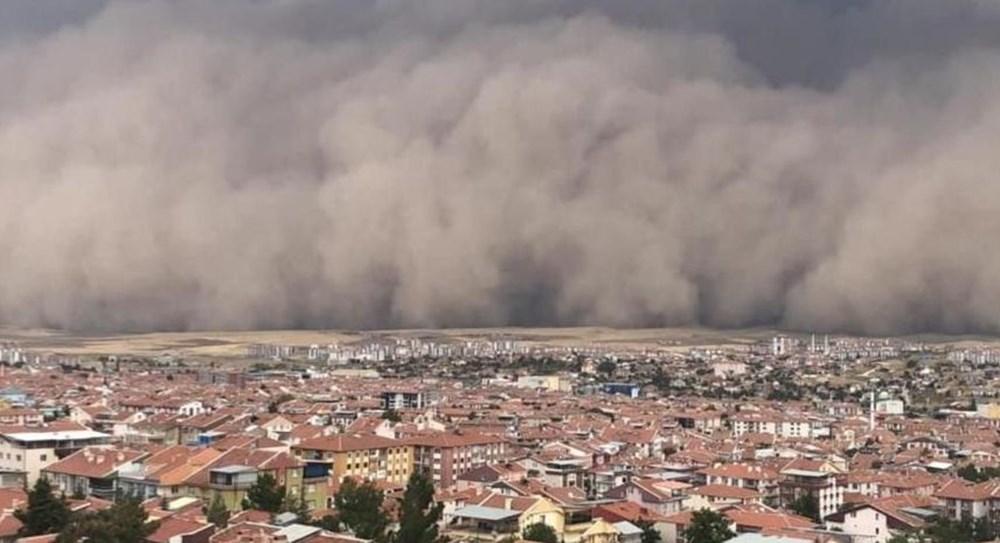 Ankara'da kum fırtınası: Polatlı'yı toz bulutu kapladı - 3